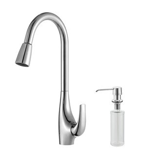 Kraus Chrome Pull-out Sprayer Kitchen Faucet and Dispenser