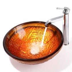 Kraus Ramus Bathroom Vessel Sink Faucet with Pop Up Drain