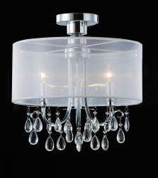 Clear 3-light Crystal Ceiling Fixture