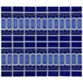 SomerTile 13.125x11.5-in Modena Cobalt Blue Porcelain Mosaic Tile (Pack of 10)