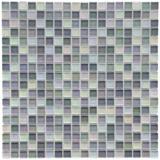 SomerTile 12x12-in Reflections Mini 5/8-in Harmony Glass Mosaic Tile (Pack of 10)