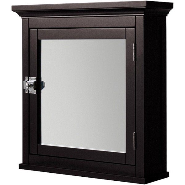 Classique espresso medicine cabinet overstock shopping great deals on elite bathroom cabinets for Espresso bathroom medicine cabinet