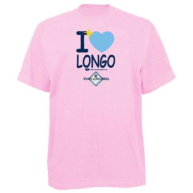 Official Evan Longoria Women's 'I heart Longo' Pink T-shirt