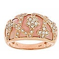 Anika and August D'Yach 14k Rose Gold Pink Opal and 1/2ct TDW Diamond Ring (G-H, SI1-SI2)