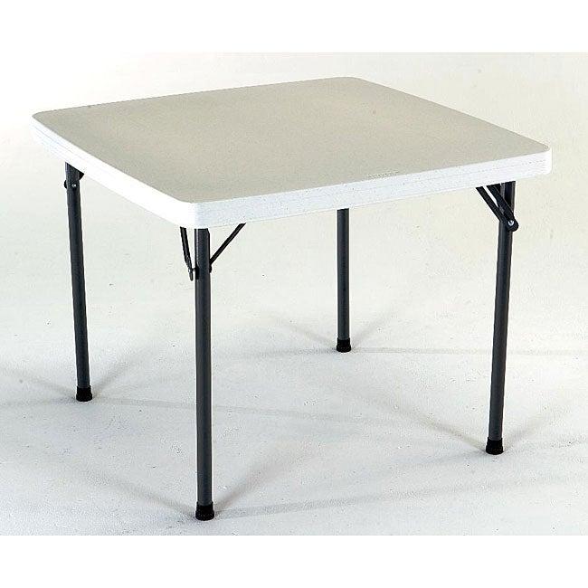 Lifetime 37-inch Square Granite Folding Card Table