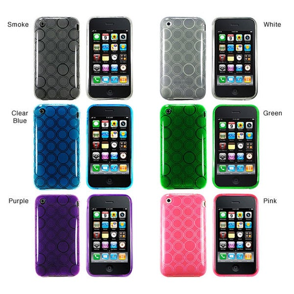 INSTEN Circle TPU Rubber Phone Case Cover for Apple iPhone 3g / 3gs