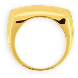 Simon Frank 14k Yellow Gold Overlay Men's 8-liner Cubic Zirconia Ring
