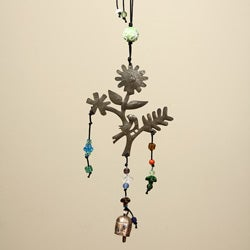 Iron Springtime Hanging Bird Bell (India)