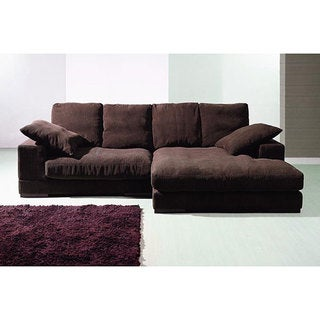 Exceptional Designs Patriot Microfiber U Shaped Sectional