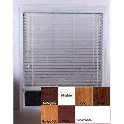 Customized Real Wood 24-inch Window Blinds