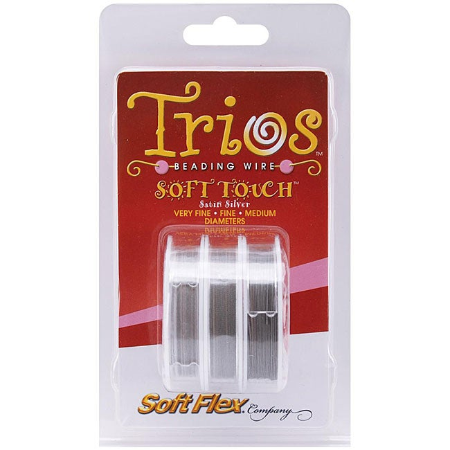 Soft Flex 3 Sizes 'Satin Silver' Trios Wire (Set of 3 10-foot Spools)