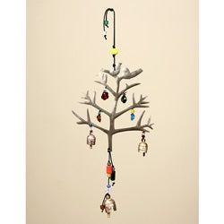 'Love Birds on a Tree' Wind Chime (India)