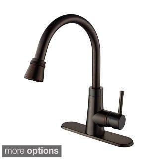 Kraus Stainless-Steel Undermount Kitchen Sink, Brass Faucet/Dispenser with Mounting Hardware