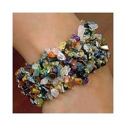 Multi-gemstone 'Rainbow Girl' Beaded Bracelet (India)