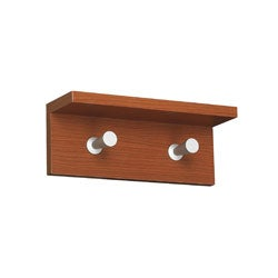 Safco Contempo 2-hook Wood Wall Rack
