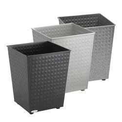 Safco 6-gallon Checks Wastebasket (Pack of 3)