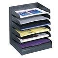 Safco Steel Black 6-tier Desk Tray