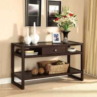 Furniture of America Hilda Blaine Espresso Sofa Table