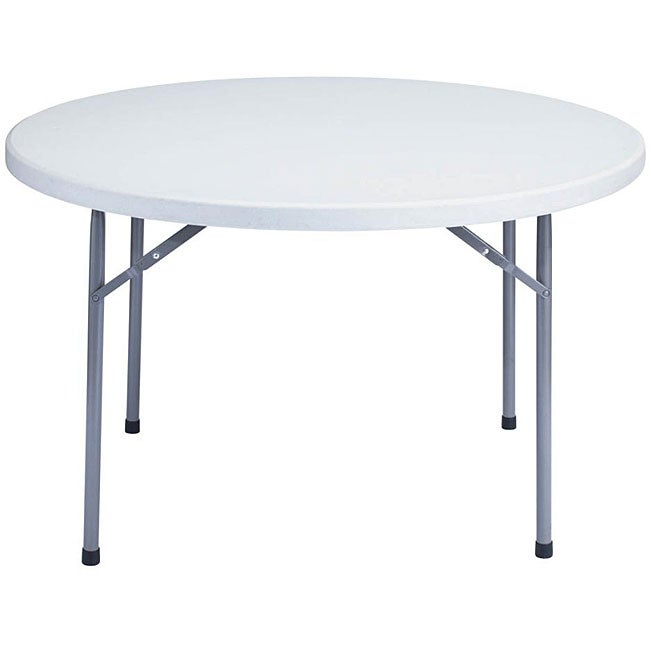 Nps resin 48 inch grey round folding table overstock for Table shopping