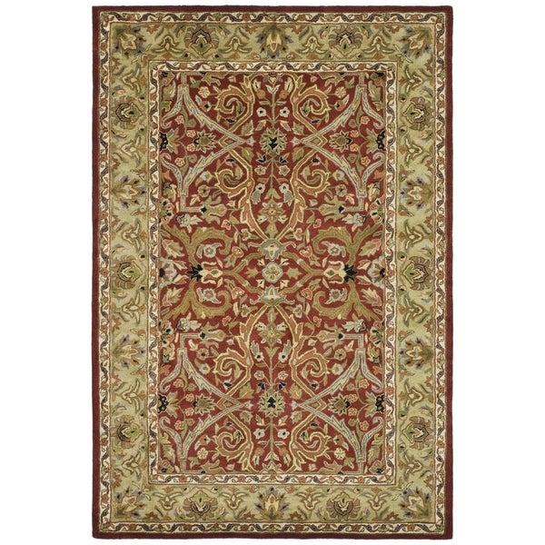 Safavieh Handmade Heritage Treasures Red/ Gold Wool Rug (5' x 8')