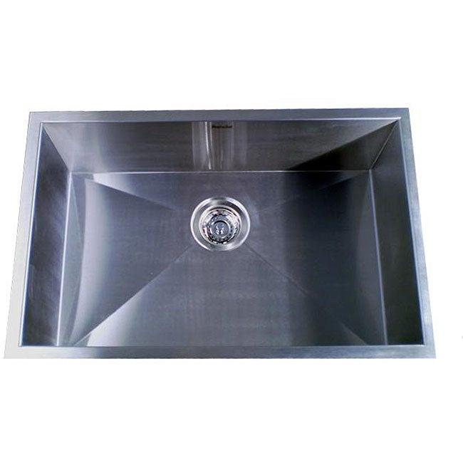 Zero Radius Single Bowl 28-inch Kitchen Sink