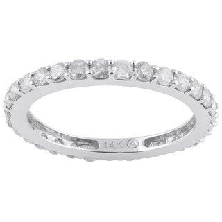 Beverly Hills Charm 14k Gold 1ct TDW Diamond Wedding Eternity Band (H-I, I2-I3)