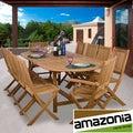 Amazonia Teak Toulon Deluxe 11-piece Teak Dining Set