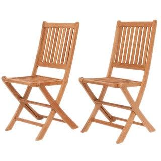 Amazonia Teak Terra Teak Dining Side Chairs (Set of 2)