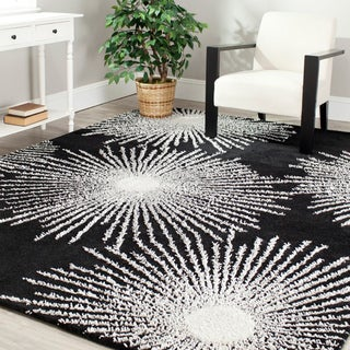 Safavieh Handmade Soho Burst Black New Zealand Wool Rug (3'6 x 5'6)
