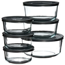 Pyrex No-leak Lid 12-piece Food Storage Vessel Set