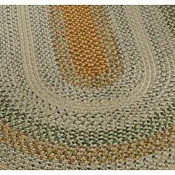 Safavieh Hand-woven Indoor/Outdoor Reversible Multicolor Braided Polypropylene Rug (8' x 10' Oval)