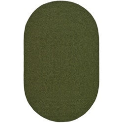 Safavieh Hand-woven Reversible Green Braided Rug (8' x 10' Oval)
