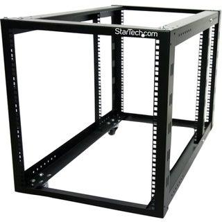 StarTech.com 12U 4 Post Server Equipment Open Frame Rack Cabinet w/ A