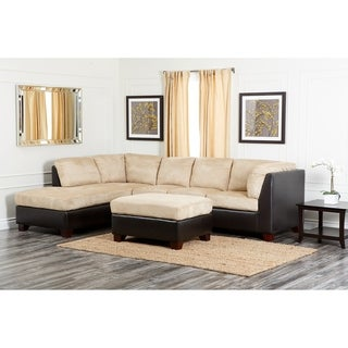 Sectional sofas overstock shopping stylish for Abbyson living delano sectional sofa and storage ottoman set