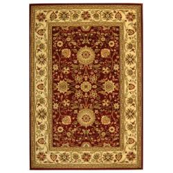 Lyndhurst Collection Majestic Red/ Ivory Rug (9&#39; x 12&#39;)