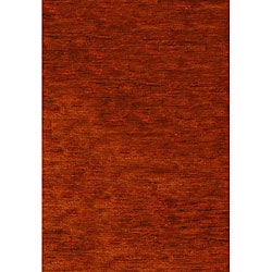 Safavieh Hand-knotted Vegetable Dye Solo Rust Hemp Rug (9' x 12')