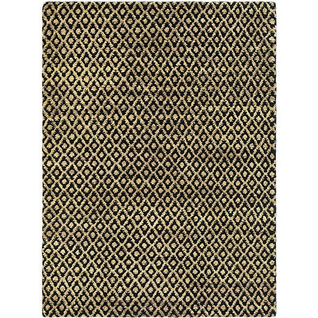 Safavieh Hand-knotted Vegetable Dye Black/ Gold Rug (8' x 10')