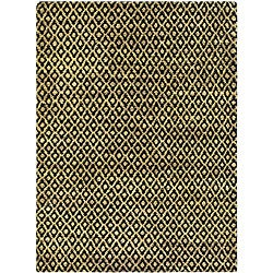 Safavieh Hand-knotted Vegetable Dye Black/ Gold Rug (8' x 10')