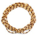 DaVonna Multi-colored Brown Freshwater Pearl 100-inch Endless Necklace (7-7.5 mm)