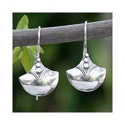 Sterling Silver 'Modern Romantic' Dangle Earrings (Thailand)