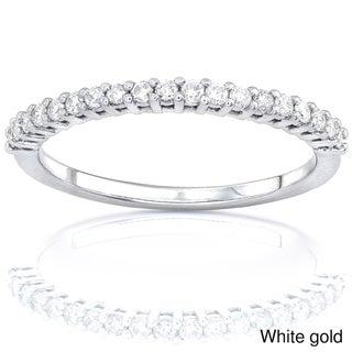 Annello 14k Gold Women's 1/4ct TDW Diamond Wedding Band (G-H, I1-I2)