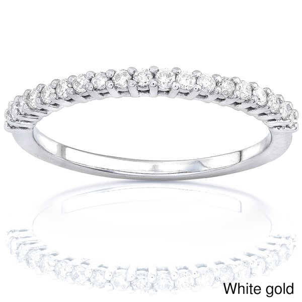Annello 14k Gold Women's 1/4ct TDW Diamond Wedding Band (G-H, I1-I2)