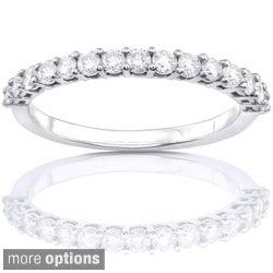 Annello 14k White Gold 1/2ct TDW Diamond Wedding Band (G-H, I1-I2)