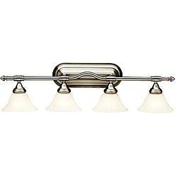 Broadview Fluorescent 4-light Brushed Nickel Wall-mount Light Fixture
