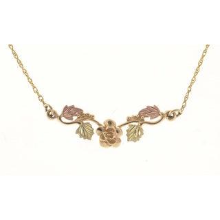 Black Hills Gold Rose Pendant