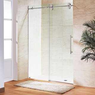 "VIGO 72-inch Frameless Shower Door 3/8"" Sliding Shower Door"