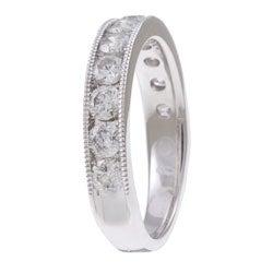 14k White Gold 1ct TDW Diamond Miligrain Detail Ring (H-I, I1-I2)