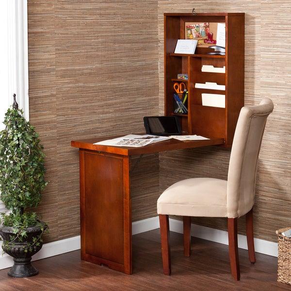 Upton Home Murphy Walnut Fold-out Convertible Desk
