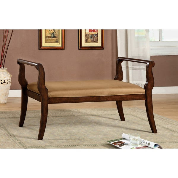 Furniture of America Wood European-style Settee Bench