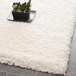Safavieh Plush Super Dense Hand-woven Honey White Premium Shag Rug (6' Square)